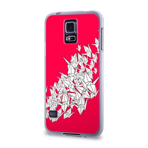 Чехол для Samsung Galaxy S5 силиконовый  Фото 03, 1000 Cranes