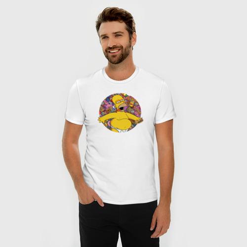 Мужская футболка премиум  Фото 03, Гомер