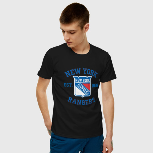 Мужская футболка хлопок New York Rengers Фото 01
