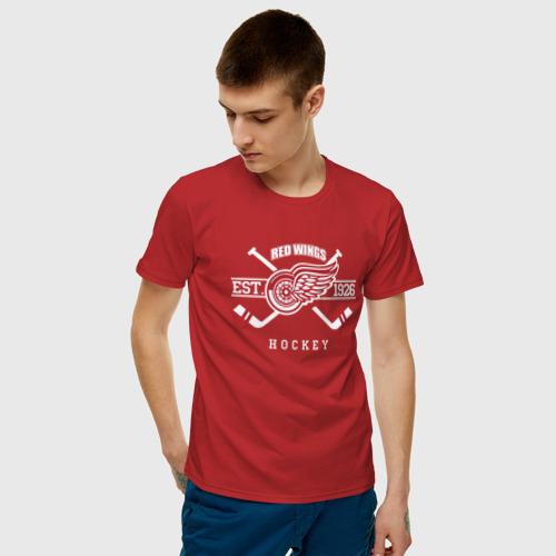 Мужская футболка хлопок Detroit red wings Фото 01
