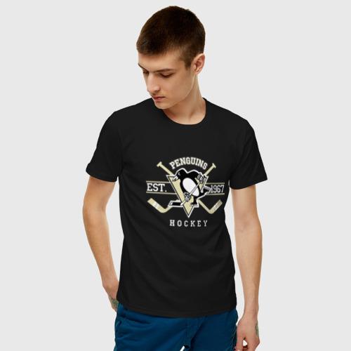 Мужская футболка хлопок Pittsburgh Penguins Фото 01
