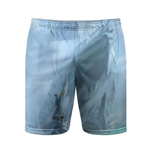 Мужские шорты 3D спортивные Ship and Kunka