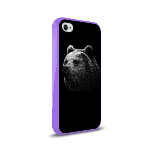 Чехол для Apple iPhone 4/4S силиконовый глянцевый  Фото 02, Мишка
