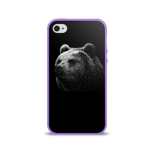 Чехол для Apple iPhone 4/4S силиконовый глянцевый  Фото 01, Мишка