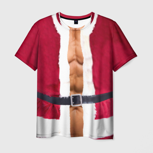 Мужская футболка 3D  Фото 03, Костюм Деда Мороза