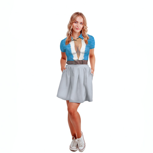 Женская рубашка поло 3D  Фото 04, Костюм Снегурочки