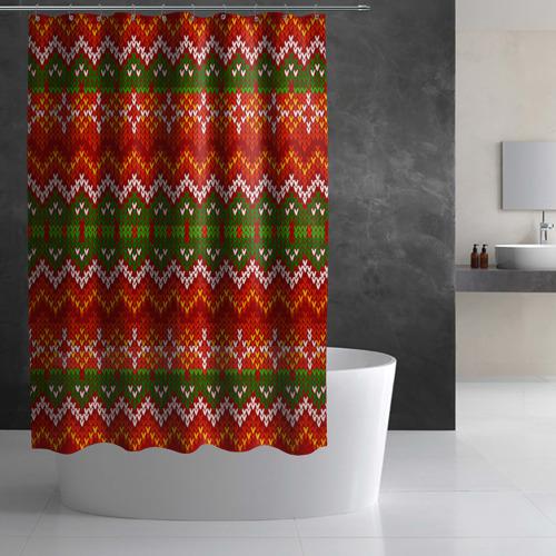 Штора 3D для ванной  Фото 02, Свитер
