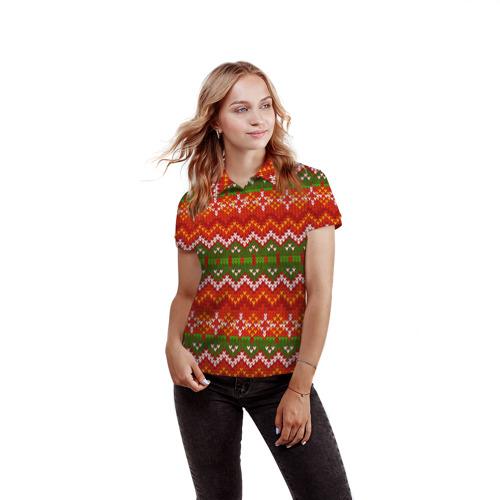 Женская рубашка поло 3D  Фото 03, Свитер