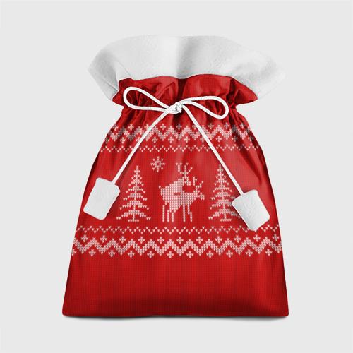 Подарочный 3D мешок Свитер с оленями