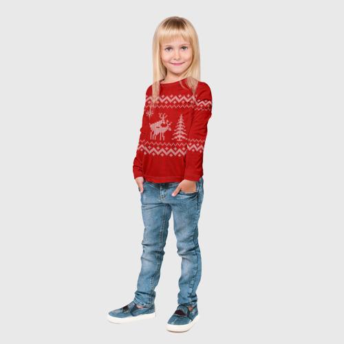 Детский лонгслив 3D  Фото 04, Свитер с оленями