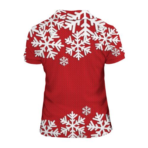Женская рубашка поло 3D Снежинки Фото 01