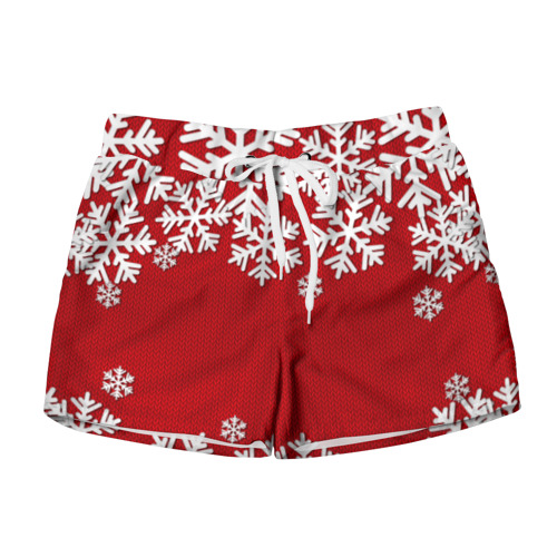 Женские шорты 3D Снежинки