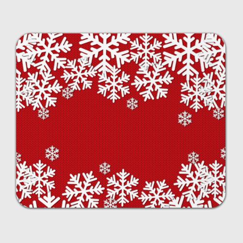 Коврик для мышки прямоугольный Снежинки Фото 01