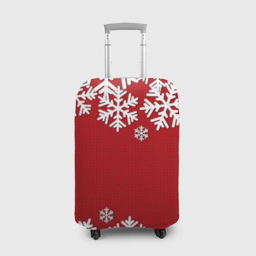 Чехол для чемодана 3D Снежинки Фото 01