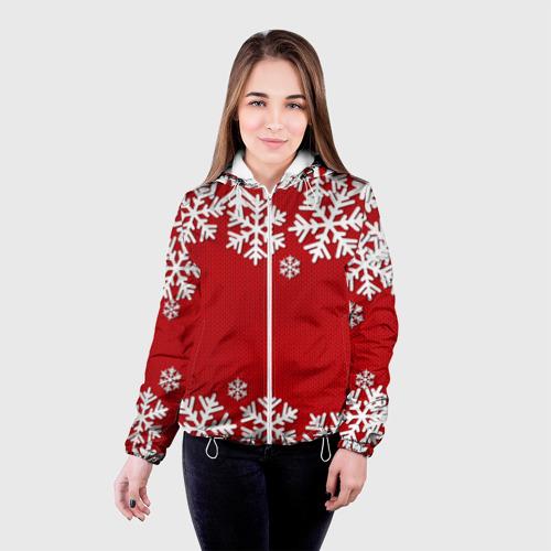 Женская куртка 3D Снежинки Фото 01