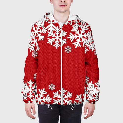 Мужская куртка 3D  Фото 04, Снежинки