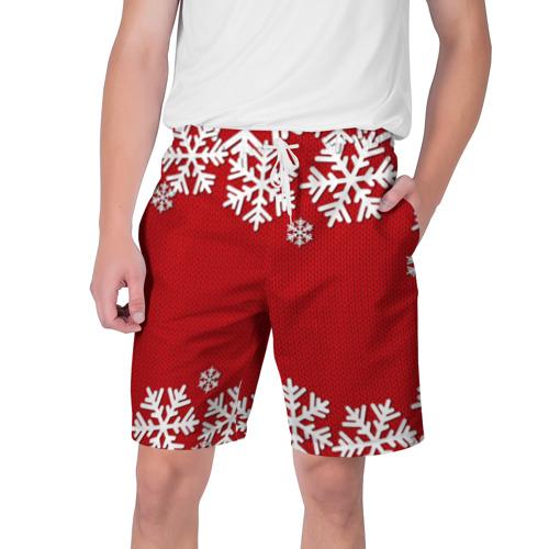 Мужские шорты 3D Снежинки