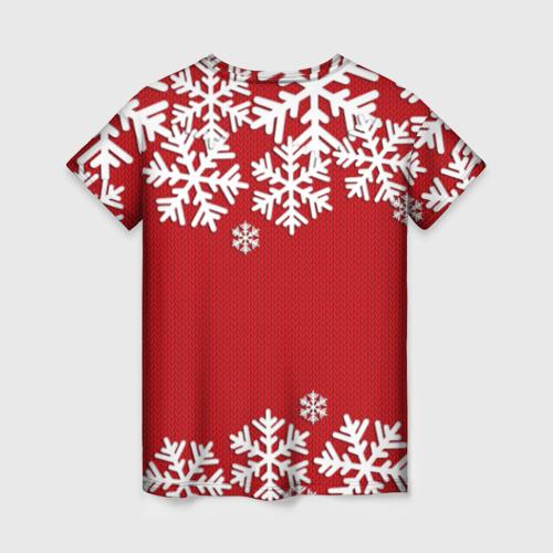 Женская футболка 3D Снежинки Фото 01