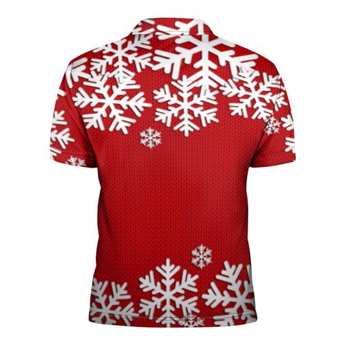 Мужская рубашка поло 3D Снежинки Фото 01