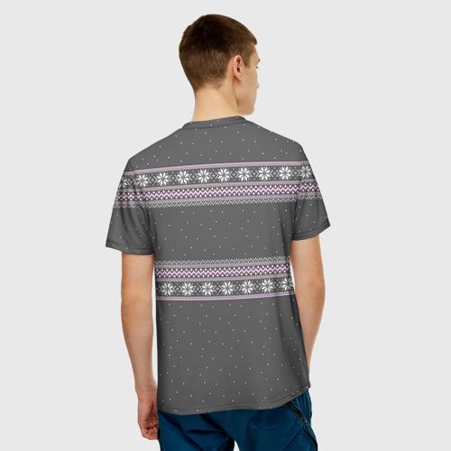 Мужская футболка 3D Свитер с оленями Фото 01