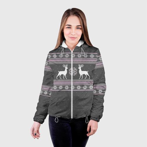 Женская куртка 3D  Фото 03, Свитер с оленями