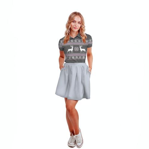 Женская рубашка поло 3D  Фото 04, Свитер с оленями