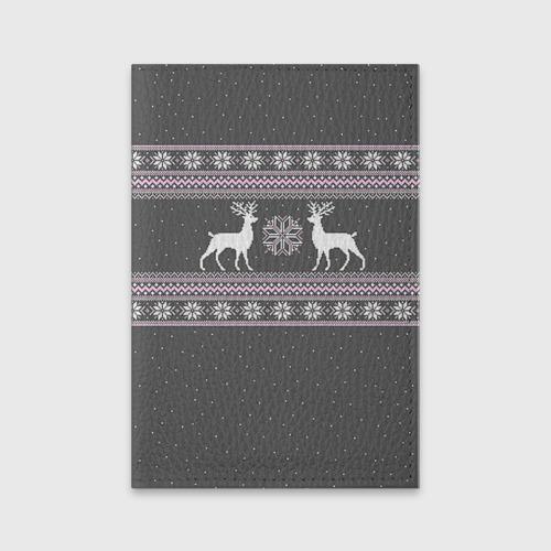 Обложка для паспорта матовая кожа Свитер с оленями Фото 01