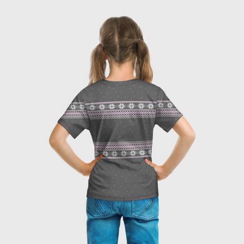 Детская футболка 3D Свитер с оленями Фото 01