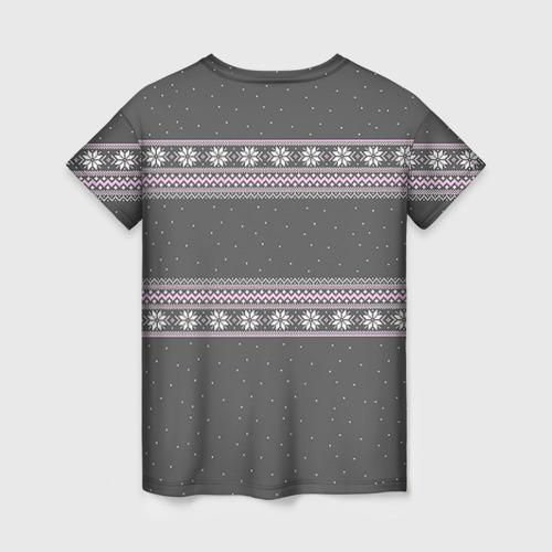 Женская футболка 3D Свитер с оленями Фото 01
