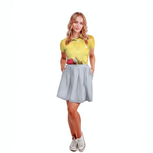Женская рубашка поло 3D  Фото 04, Новый год