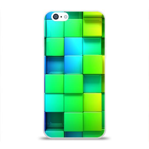 Чехол для Apple iPhone 6 силиконовый глянцевый  Фото 01, Кубики