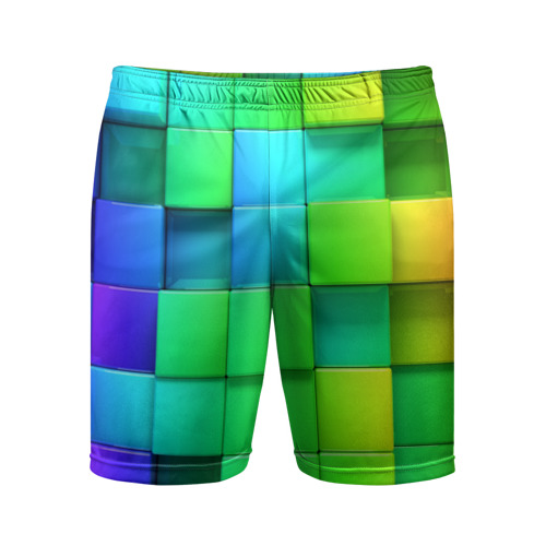 Мужские шорты 3D спортивные Кубики