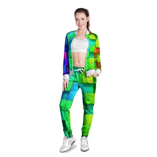 Женская олимпийка 3D  Фото 03, Кубики