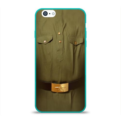 """Чехол силиконовый глянцевый для Apple iPhone 6 """"Солдатская форма"""" - 1"""