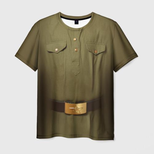 Мужская футболка 3D Солдатская форма Фото 01