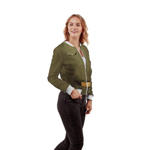 Женский бомбер 3D  Фото 04, Солдатская форма