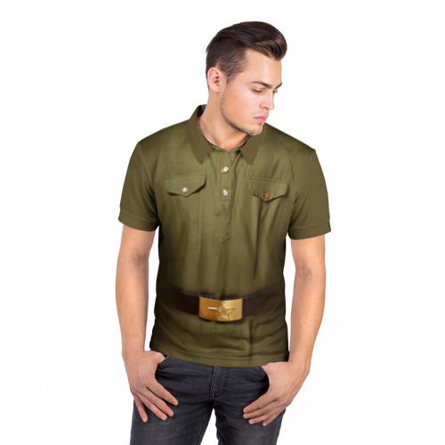 Мужская рубашка поло 3D Солдатская форма