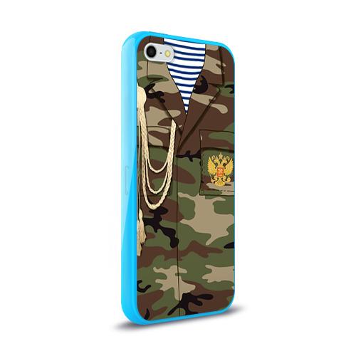 Чехол для Apple iPhone 5/5S силиконовый глянцевый  Фото 02, Армейская форма