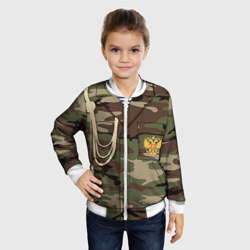 Детский бомбер 3D Армейская форма Фото 01