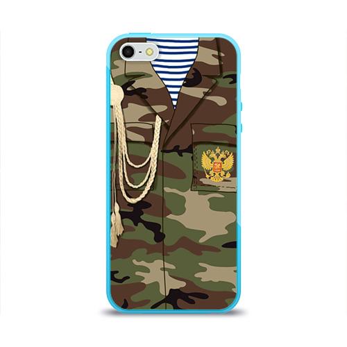 Чехол для Apple iPhone 5/5S силиконовый глянцевый  Фото 01, Армейская форма