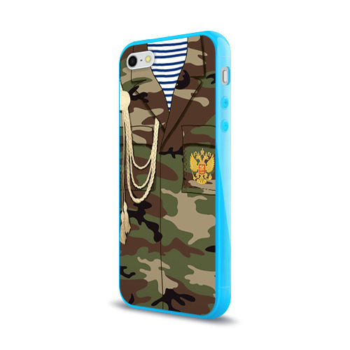 Чехол для Apple iPhone 5/5S силиконовый глянцевый  Фото 03, Армейская форма