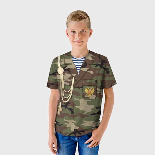 Детская футболка 3D Армейская форма