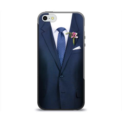 Чехол для Apple iPhone 5/5S силиконовый глянцевый Жених от Всемайки