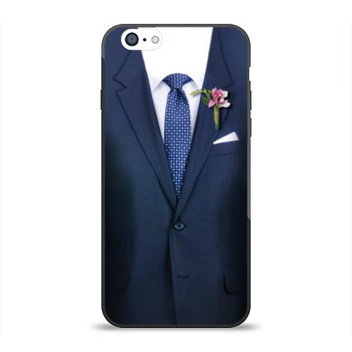 Чехол для Apple iPhone 6 силиконовый глянцевый Жених от Всемайки