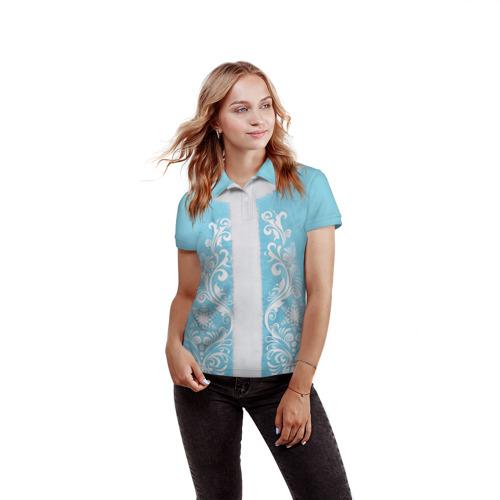 Женская рубашка поло 3D  Фото 03, Снегурочка