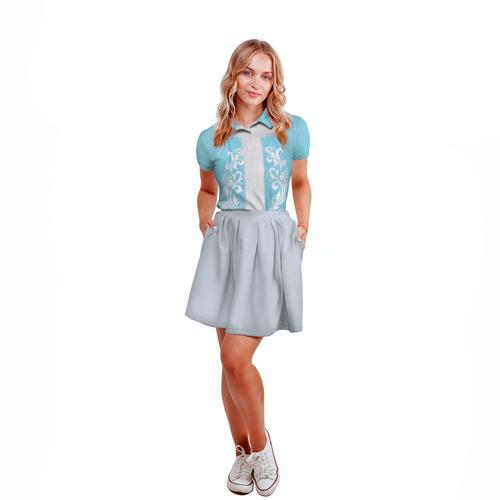 Женская рубашка поло 3D  Фото 04, Снегурочка