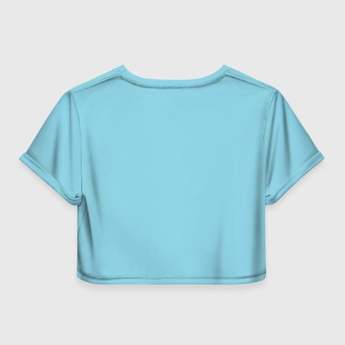 Женская футболка 3D укороченная  Фото 02, Снегурочка