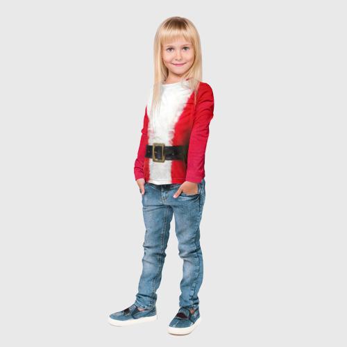 Детский лонгслив 3D  Фото 03, Дед мороз