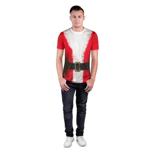 Мужская футболка 3D спортивная  Фото 04, Дед мороз