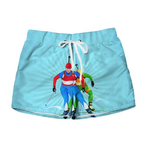 Женские шорты 3D Биатлон